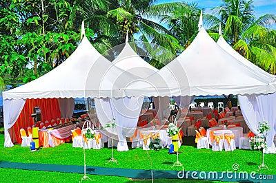 Ogrodowego przyjęcia ślub