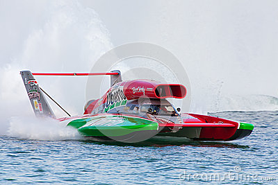 Oh Boy! Oberto Hydroplane Editorial Stock Image