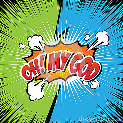 Free Oh! My God Comic Speech Bubble, Cartoon. Stock Photos - 90133713