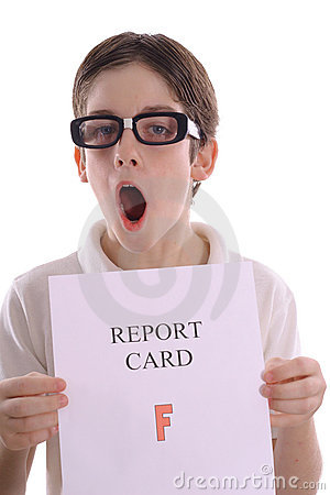 OH NO - F on report card