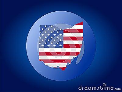 Ohio globe illustration