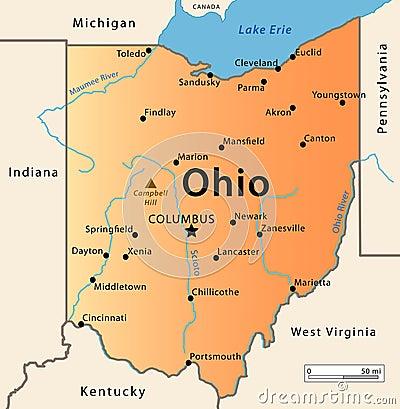 Free Ohio Map Royalty Free Stock Photo - 30152305