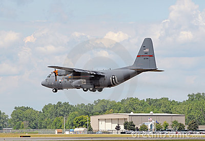 Ohio National Guard C-130 cargo airplane Editorial Image