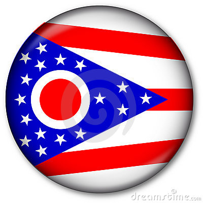 Ohio State Flag Button