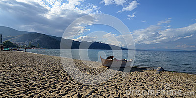 Ohrid Lake, Albania Editorial Stock Image