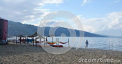 Ohrid Lake, Albania Editorial Photography