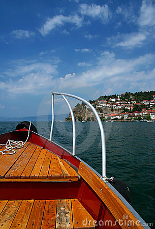 Ohrid lake scene, Macedonia