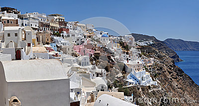 Oia at the greek island of Santorini