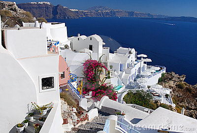 Oia landscape, Santorini in Greece