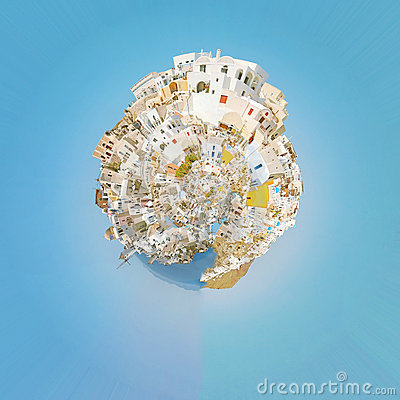 Free Oia Panorama Planet 02 Stock Images - 22946174
