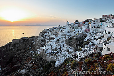 Oia Santorini at Sunset
