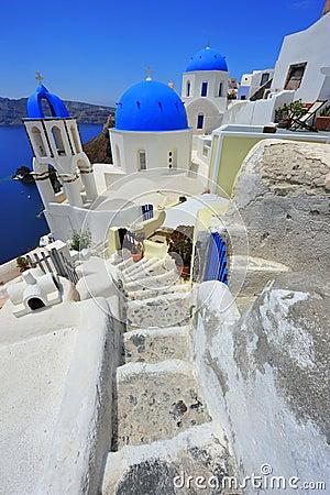 Oia Santorini (Thira) Greece - island white