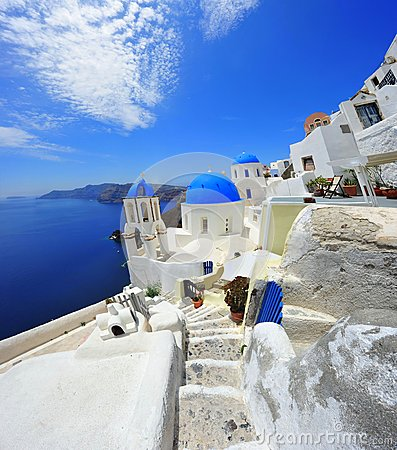 Oia Santorini (Thira) Greece - island white
