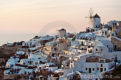 Oia sunlit by