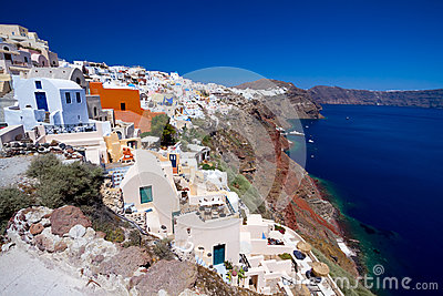 Oia village on Santorini