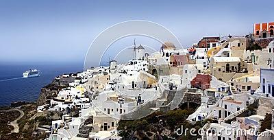 Oia village on Santorini island