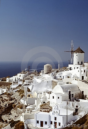 Oia village, Santorini island, Cyclades, Greek Editorial Image