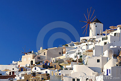 Oia windmills, Santorini, Greece