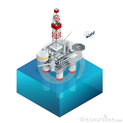 Free Oil And Gas Platform In The Gulf Or The Sea. The World Energy. Offshore Oil And Rig Construction. Vector Isometric Icon. Royalty Free Stock Photos - 74982278