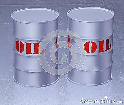 Oil barrel 3d