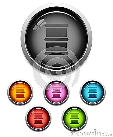 Oil barrel button icon