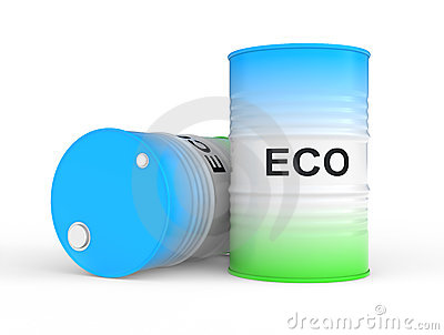 Oil barrel with ECO fuel