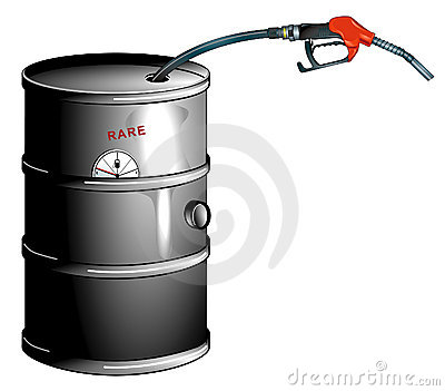 Oil barrel is empty