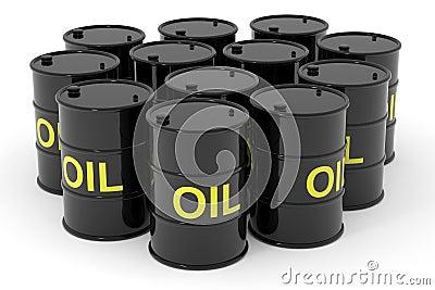 Oil barrels.