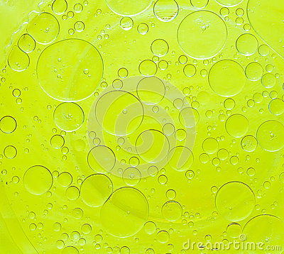 Oil bubbles abstract.
