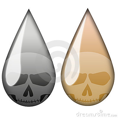 Oil Death Drop Stock Photography - Image: 5922862