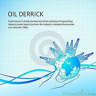 Oil derricks