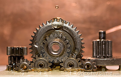Oil dripping on gear