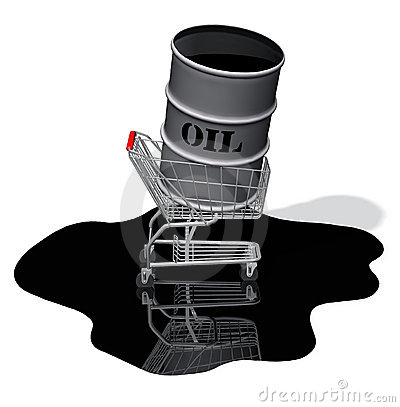 Oil Drum Shopping Cart Spill