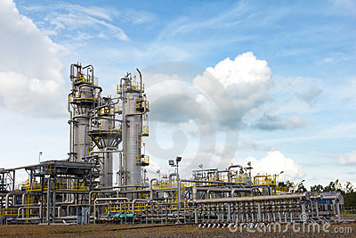 Oil and gas processing facility.