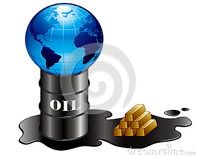 Oil and gold and earth
