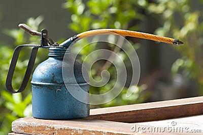 Oil Gun on the backyard background
