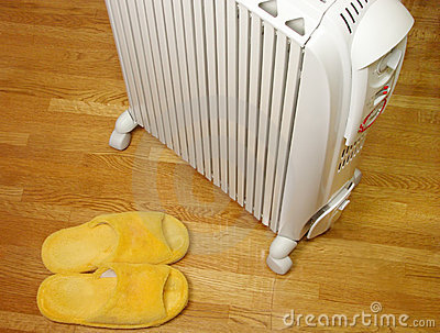 Oil heater and plush slippers