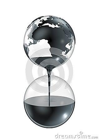 Oil hourglass