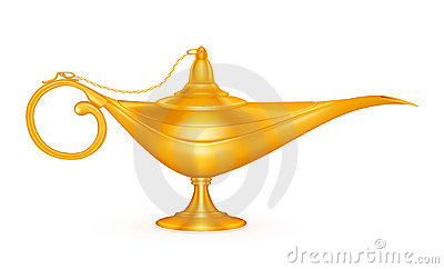 Oil lamp Vector Illustration