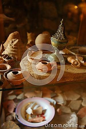 Free Oil Lamps, Saint Elishaa Monastery. Stock Images - 14910694