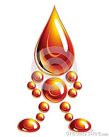 Oil man, icon,