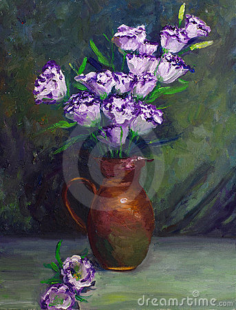 Free Oil-Painting - Balloon Flower Royalty Free Stock Photos - 15210238