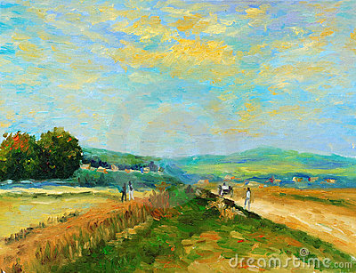 Oil-Painting - Countryside