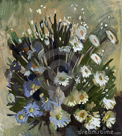 Painting Image on Oil Painting Flowers Royalty Free Stock Images   Image  11036009