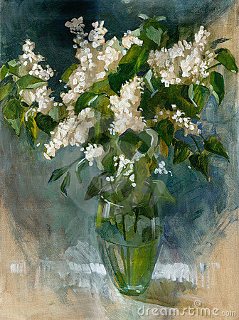 Oil painting flowers