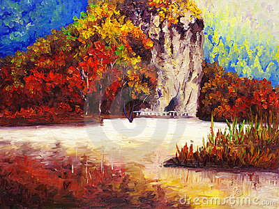 Oil Painting - Park in Autumn