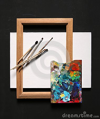 Free Oil Painting Set Stock Image - 37928501