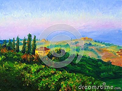 Oil Painting - Twilight