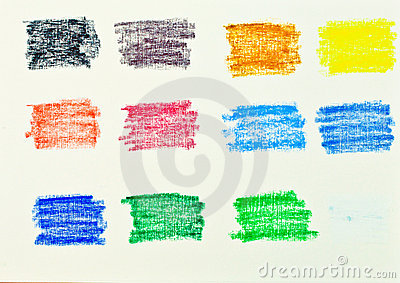 Oil pastel colors