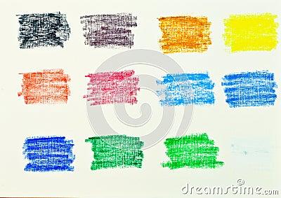 Oil pastel colors